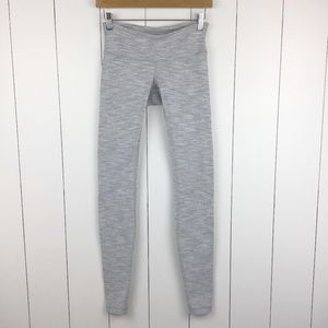 Lululemon Wunder Under Pants 4 Gray White Leggings